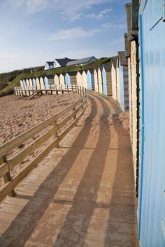 Beach Huts at Bude, North Cornwall, England  www.holidaycottages.co.uk/holidays/cornwall/north-cornwall/bude  #bestbeaches #holidaycottages