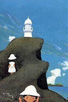 昨日、房総の海の事を書いた。 房総の海といえば、谷内六郎の描く海を思い出す。 谷内の絵は風景といっても、結局は心像風景で、そこに幻想が重なり合う。 だから、どこの海とは特定する必要はないのだが、低い山並み、漁港、海の色、なんとなく房総の海だ...