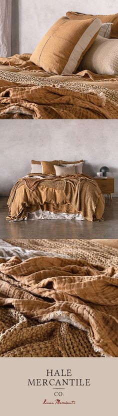 Linen Sheets, Linen Bedding, Clay Christmas Decorations, I Love Gold, Building Concept, Quilted Gifts, Textures And Tones, Bath Linens, Bed Styling