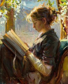 Daniel Gerhartz painting of a girl reading - would be beautiful in a library Art And Illustration, Reading Art, Woman Reading, Reading Books, Reading Time, Art Gallery, Inspiration Art, Fine Art, Beautiful Paintings