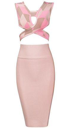 Candice Two-Piece Bandage Dress