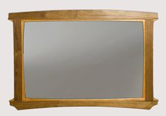 Mantle Mirror by Seth Rolland. Craftsman style wall mirror, created in cherry and walnut.
