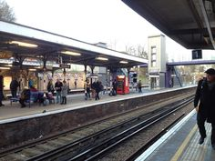 a long wait for the Overground train from Denmark Hill station (to Wandsworth Road) between Bullfinch Brewery & Mondo Brewing Co