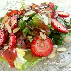 Oh my goodness... Fresh and yum.  Would you even NEED the mayo? I think not.   Strawberry Lettuce Salad Recipe   Key Ingredient