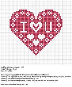 valentine heart to cross stitch