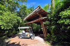 Dan.....Our personal electric buggy to ride about. Soneva Kiri, Koh Kood, Thailand | by Dan & Luiza from TravelPlusStyle.com