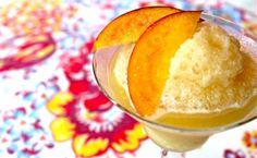 Frozen Georgia Peach Daiquiris
