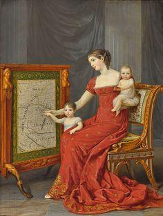 Andrea Appiani - Auguste Amalie de Beauharnais, Vizekönigin von Italien, mit ihren Töchtern Josephine und Eugenie 1809 - Category:Josephine of Leuchtenberg - Wikimedia Commons