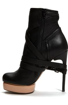Free shipping and returns on Nicholas Kirkwood 2-Tone Bootie at Nordstrom.com. A downtown-cool leather bootie is set upon a skinny wrapped heel and pale-pink platform for eye-catching contrast.