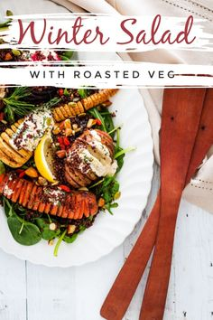 Personalized Graduation Gifts - Ideas To Pick Low Cost Graduation Offers When You Want A Nice Hearty Salad That Sticks To Your Ribs And Leaves You Feeling Satisfied Then You Want A Warm Winter Vegetable Salad. Stacked With All The Beautiful Veggies Winter Shrimp Salad Recipes, Spinach Salad Recipes, Best Salad Recipes, Lunch Recipes, Whole Food Recipes, Sandwich Recipes, Amazing Recipes, Veggie Recipes Healthy, Healthy Eats