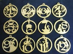 12 Days of Christmas Lasered Wooden Christmas Ornaments