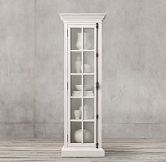 Option for extra storage in breakfast nook next to banquette on front wall French Casement Single-Door Cabinet