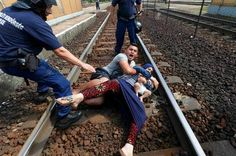 Welcome to Yetty Salam's blog: Refugee couple throw themselves on train tracks to...