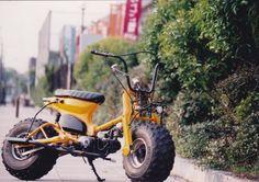 酒 レーサー (Sake Racers): not the usual honda cub - Love Cars & Motorcycles Honda Cub, Bike Style, Motorcycle Style, Scooters, Honda Ruckus, Retro Bike, Drift Trike, Mini Bike, Classic Bikes