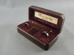 Antique Wedding Ring Box Wedding ring box Antiques and Wedding ring