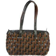 Pre-owned Nancy Gonzalez Woven Shoulder Bag (735 CAD) ❤ liked on Polyvore
