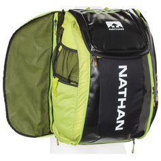 Nathan Flight Control Bag Black/Sulfur Spring