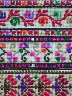 Palestinian Embroidery. It doesnt get more beautiful. Im going to do something very similar one day..