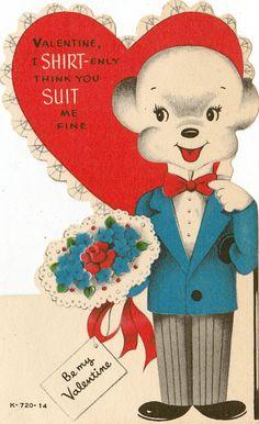 My Funny Valentine, Valentine History, Vintage Valentine Cards, Little Valentine, Valentines Day Hearts, Vintage Greeting Cards, Vintage Holiday, Valentine Day Cards, Valentines Puns