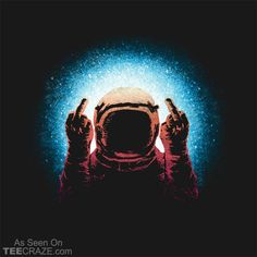 Negative Spaceman T-Shirt #TeeCraze #Space #Astronaut