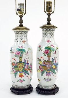 A Pair of Chinese Porcelain Vases. : Lot 1703097