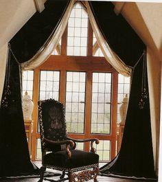 Image result for window dressing on half apex window