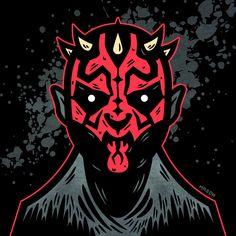 Darth Maul by James Mason. Darth Maul, Graphic Design Studios, For Stars, Horror, Nerd, Star Wars, Batman, Behance, Branding
