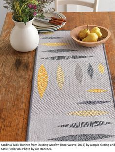 Sardinia Table Runner    From  Quilting Modern