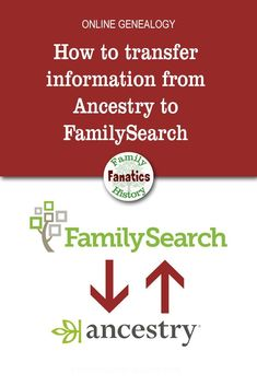 How to transfer information from Ancestry to FamilySearch ~ Family History Fanatics Learn the steps that will simplify the process of transferring your genealogy data between FamilySearch and Ancestry using RootsMagic. Free Genealogy Sites, Genealogy Chart, Genealogy Research, Family Genealogy, Genealogy Humor, Free Genealogy Records, Genealogy Forms, Family Tree Research, Genealogy Organization