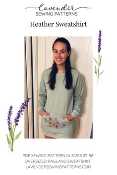 Pdf Sewing Patterns, Print Patterns, Love Sewing, Sign I, Jumper, Lavender, Things To Come, Tunic, Cozy