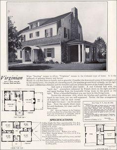 1920s Vintage Home Plans - Dutch Colonial Revival - The Washington on split level home designs, old victorian home designs, old italian home designs,