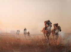 Kai Fine Art is an art website, shows painting and illustration works all over the world. Watercolor Horse, Watercolor Landscape, Landscape Art, Watercolor Paintings, Watercolours, Joseph Zbukvic, Artist Sketchbook, Horse Drawings, Traditional Paintings