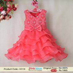 6a6d84bbc83 Gorgeous Peach Colored Ruffle Wedding Party Dress for Toddlers