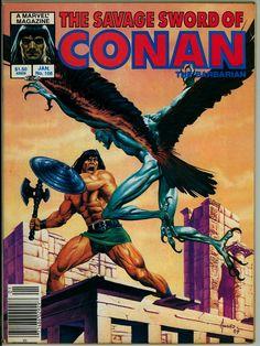 A cover gallery for the comic book Savage Sword of Conan Dc Comics, Conan Comics, Comics Online, Marvel Comic Books, Comic Movies, Comic Books Art, Comic Art, Saga, Gibi Online
