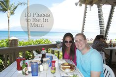 10 must-eat places in Maui - gorgeous views and delicious food!