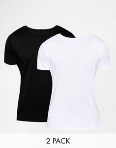 "Lot de t-shirts par Selected Article fabriqué en jersey de coton doux Ras du cou Coupe classique taillant normalement Lavage en machine 100% coton Le mannequin porte l'article en taille Medium et mesure 185,5 cm (6'1"") Lot de deux"