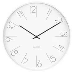 Present Time Karlsson Modern Wall Clock - Unique & Contemporary Wall Clock - Elegant Numbers Wall Clock Elegant, White Wall Clocks, Unique Wall Clocks, Wood Clocks, Wall Clock Brands, Wall Clock Online, Wall Clock Numbers, Home Clock, London Clock