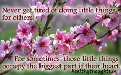 Doing Little Things For Others