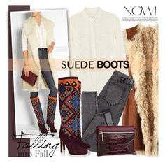 """""""Suede Boots"""" by mada-malureanu ❤ liked on Polyvore featuring Figue, Equipment, Brian Atwood, Victoria Beckham, victoriabeckham, BrianAtwood, polyvoreeditorial and suedeboots"""