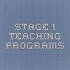 Stage 1 teaching programs