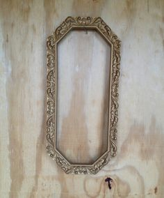 Vintage Ornate Gold Oval Shabby Chic Picture Frame by vintapod, $12.00