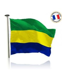 Drapeau Gabon Made In France by Manufêtes