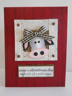 Cow-a-belle by Linda Creech, Up date on an old punch art