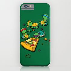 Teenage Mutant Ninja Turtles. One of my favorite childhood cartoons. They shared my love for pizza.