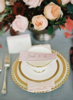 Paper suite and calligraphy by Fishwick Design, image by Elisa Bricker. Styling and florals by Mallory Joyce. #wedding www.weddingsunveiledmagazine.com