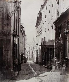 Paris 5e - Rue des Carmes (1865-1869), de la rue Saint-Hilaire - Charles Marville