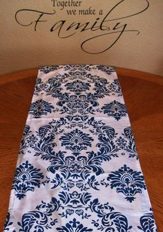 Damask Navy Blue OR Royal Blue Table Runners by DESIGNERSHINDIGS, $6.00