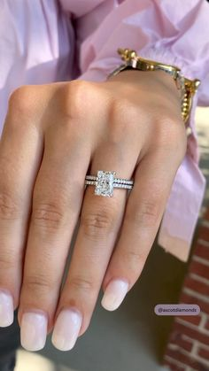 Cute Engagement Rings, Radiant Cut Engagement Rings, Luxury Engagement Rings, Square Diamond Rings, Diamond Wedding Rings, Dream Ring, Unique Rings, Or Rose, Fashion Rings