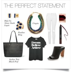 The Perfect Statement by stelladot on Polyvore featuring Topshop, Vince and Stella & Dot