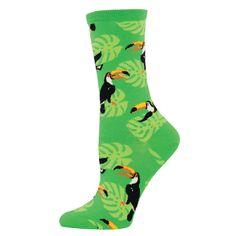 Toucan do it in these toucan crew socks for women.